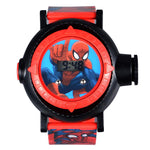 Spiderman fun pattern electronic watch for kids