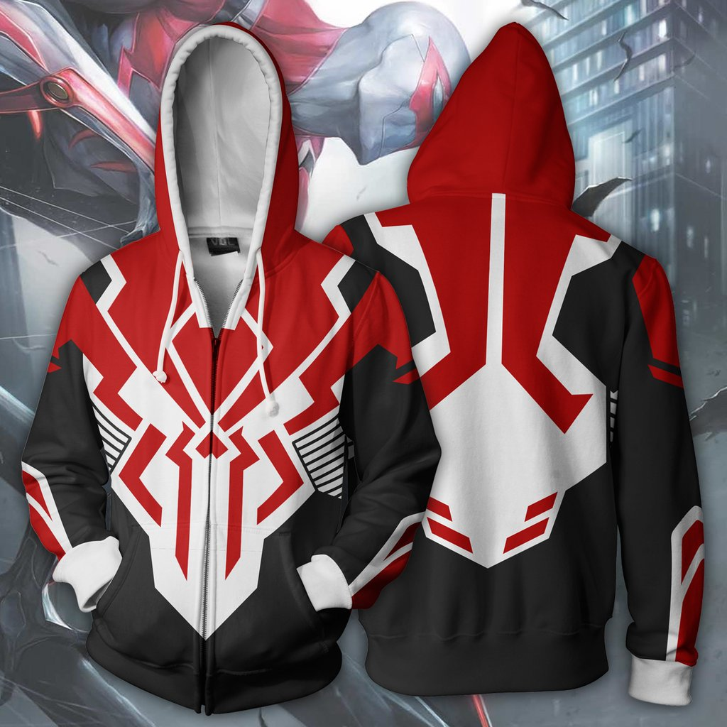 Spider Man 3D Print Zip Up Hoodie