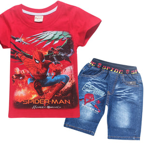 Spider-Man Short T-Shirt and Jeans Set for Kids
