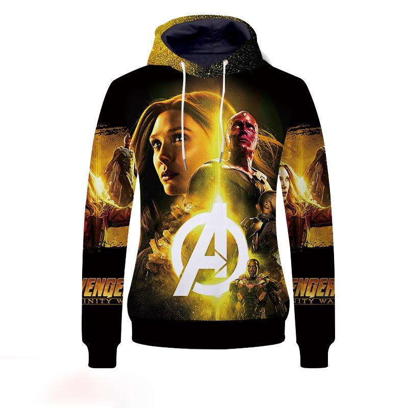 The Avengers:Trendy 3D Digital Printing Hoodie