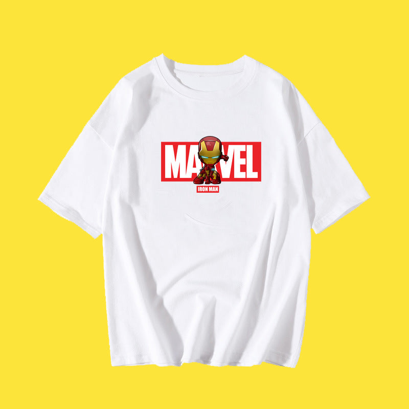 2019 Q Version iron Man  Printed T-shirt