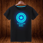 Marvel Captain America Cotton Luminous Short Sleeve T-Shirt