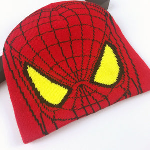 Spiderman Knit Cap and Gloves for Kids