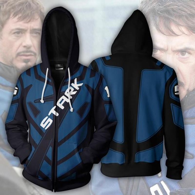 Tony Stark Zip-Up Hoodies