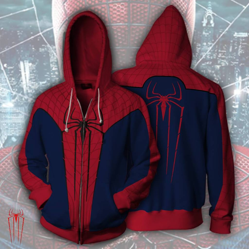 cec698fee New Spider Man Family Matching Outfit Zip Up Hoodies For Adult and Kid -  Dark Blue / S