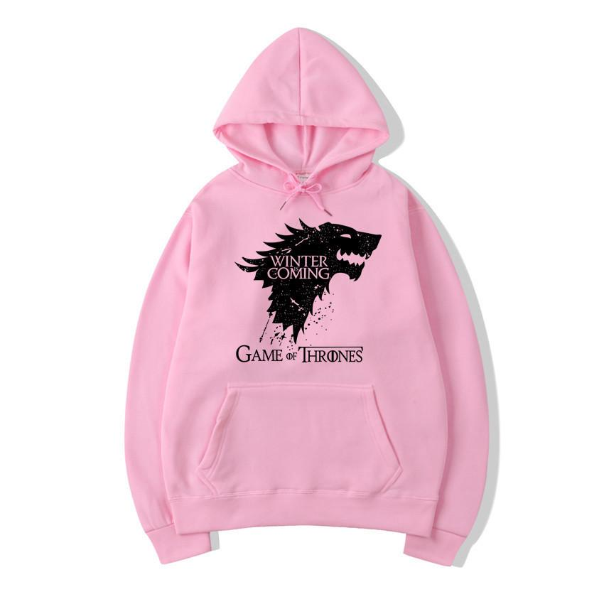Game of Thrones Wolf House Print Hoodies