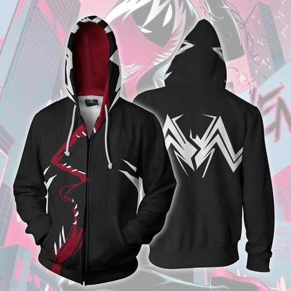 Venom Spider-man Gwen Zipper Hoody for Adult and Kid