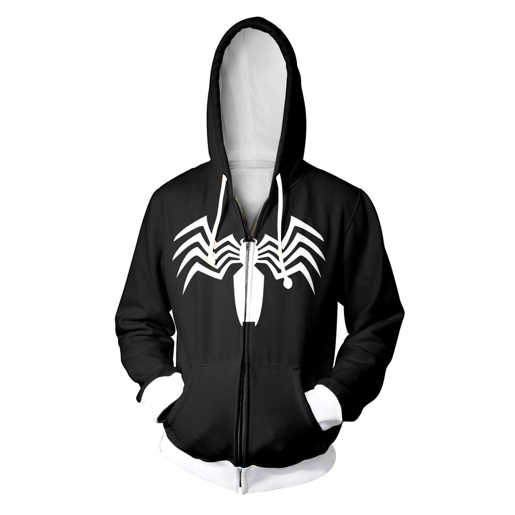 Ultimate Spider-Man 3D Printed Cool Black Zip Up Hoodie
