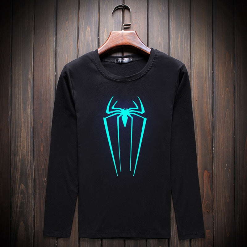 Trendy Spider Man Luminous Long Sleeve T-Shirt