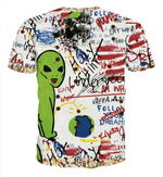 Graffiti alien T-shirt