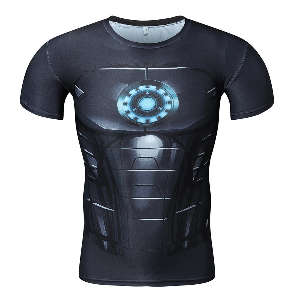 Iron Man Men's Sports Slim Short Sleeve T-Shirt