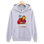 Trendy Iron Man Anime Printed Round Neck Long Sleeve Hoodies