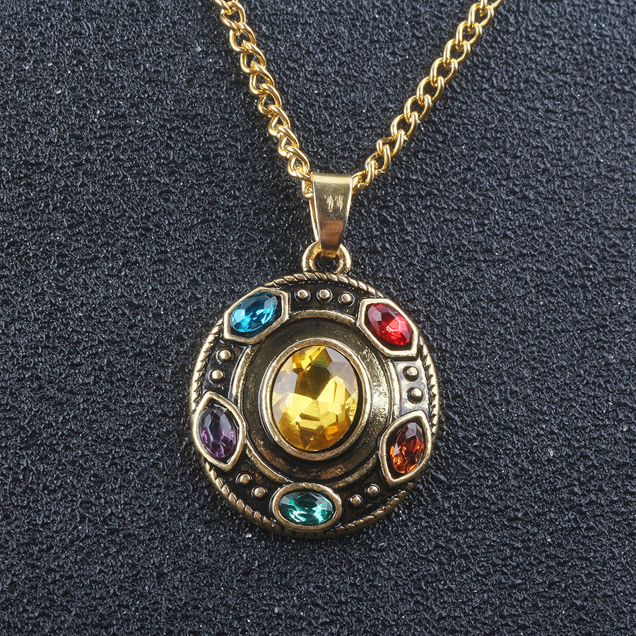 The Avengers Infinite Stone Alloy necklace