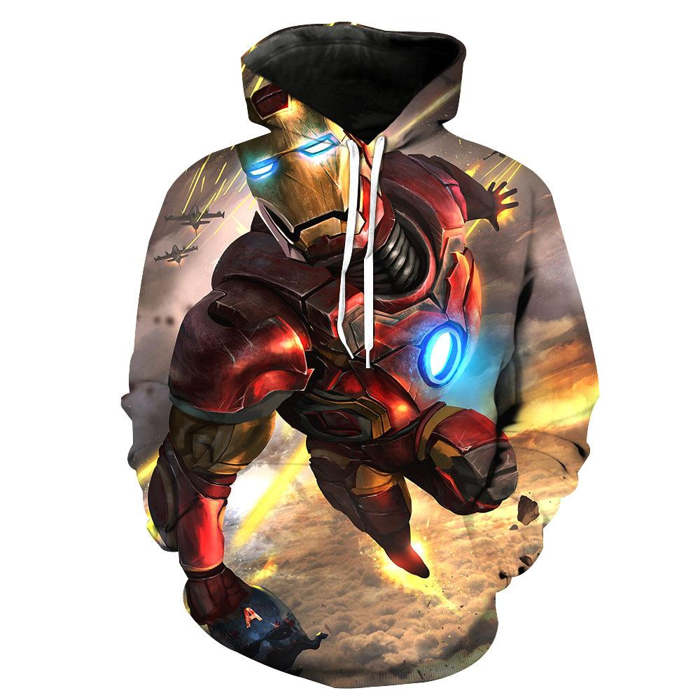 The Avengers:Trendy Iron Man 3D Digital Printing Hoodie