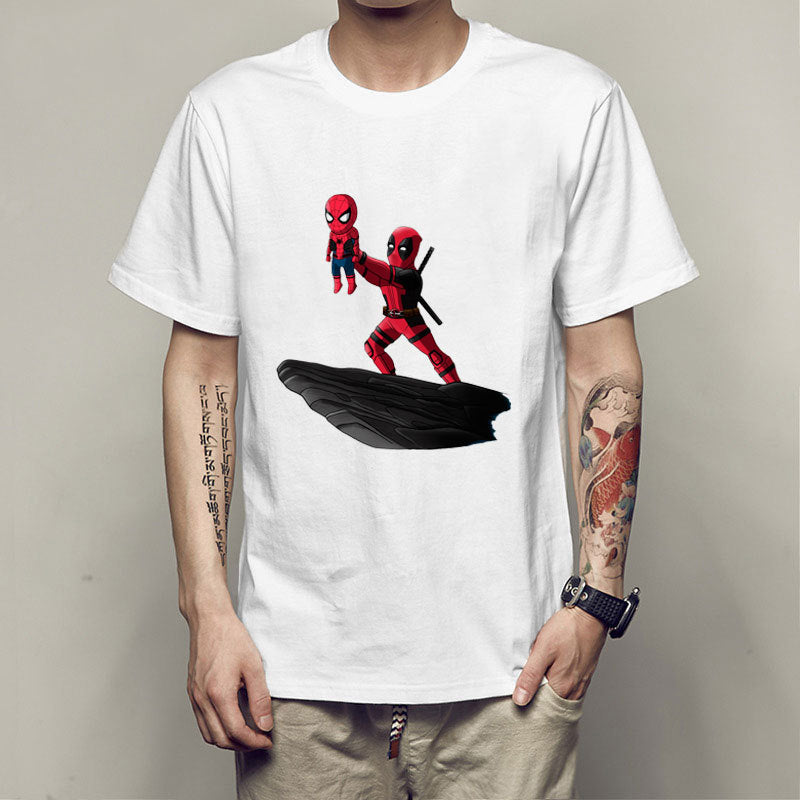 Spider-man Deadpool Print T-shirt