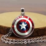 Captain America Shield Gemstone Necklace