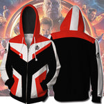 2019Avengers 4 : Endgame Quantum Battle Suit Black And Hite Stitching Hoodie