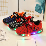 Amazing Spider-Man LED Illumination Breathable Sneakers for Kids