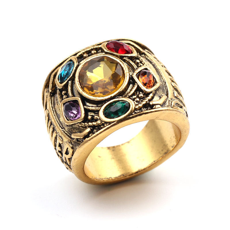 The Avengers Infinite Stone Alloy Ring