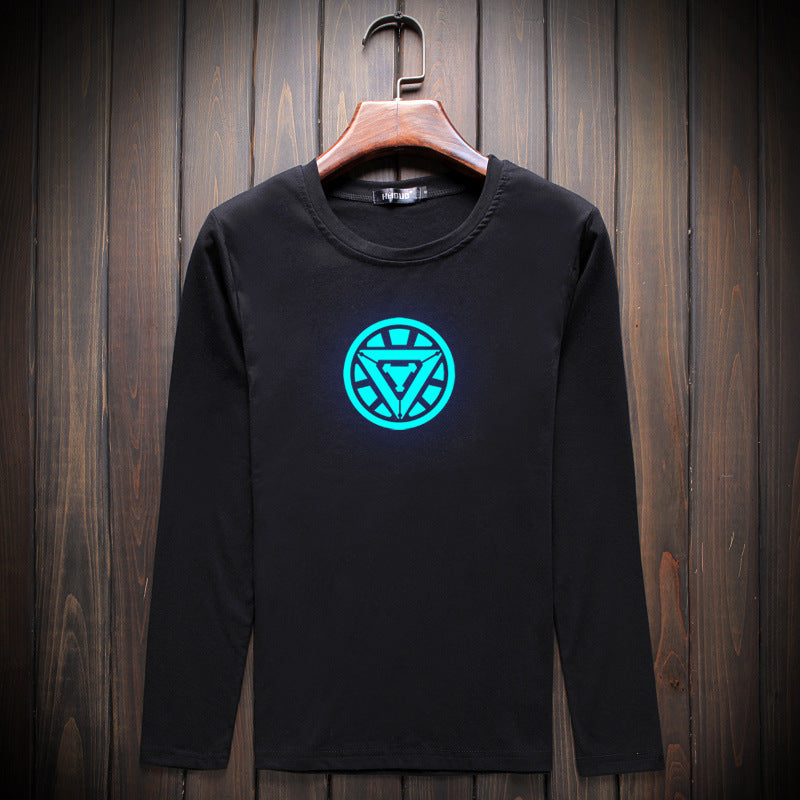 Trendy Iron Man Luminous Long Sleeve T-Shirt