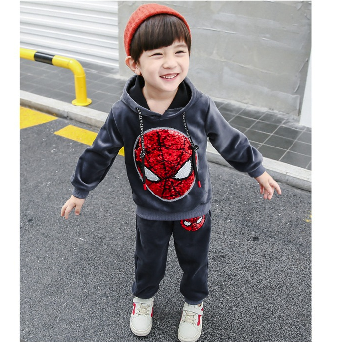 Spider-Man Color-changing Gold Velvet Set for Kids