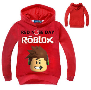 Roblox Red Nose Day Hoodie Pullover for Kids