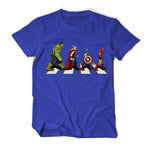 Avengers 4 iron Man Captain America . Hulk and Thor Printed T-shirt