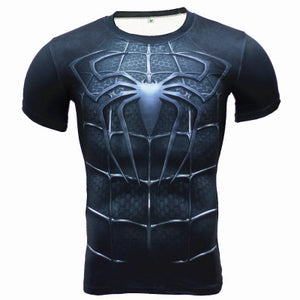 Spider-Man Sports Fitness Short Sleeve T-Shirt