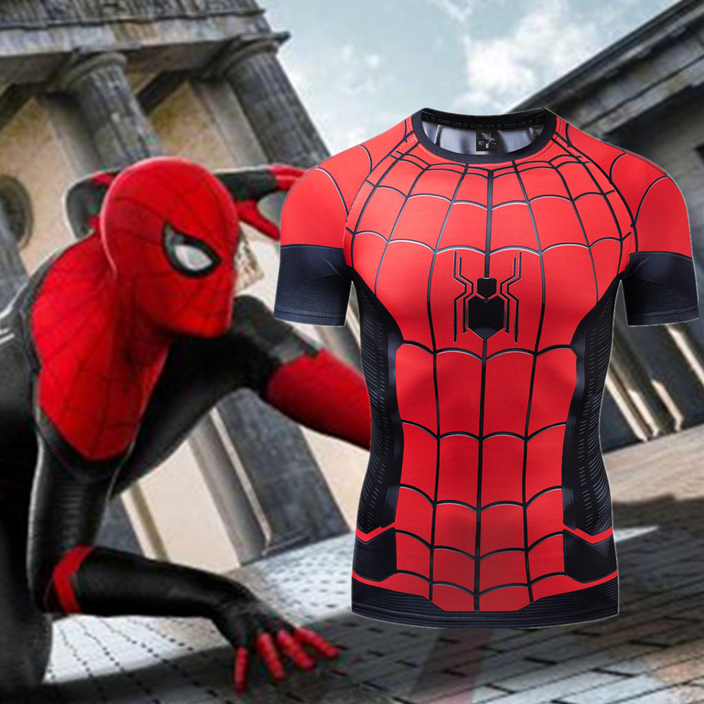 Spider Man Far Form Home 3D trendy Short Sleeve T shirt