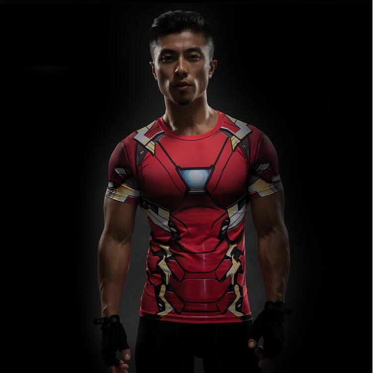Avengers  Superhero Quick drying  3D Fitness Costume T-Shirt