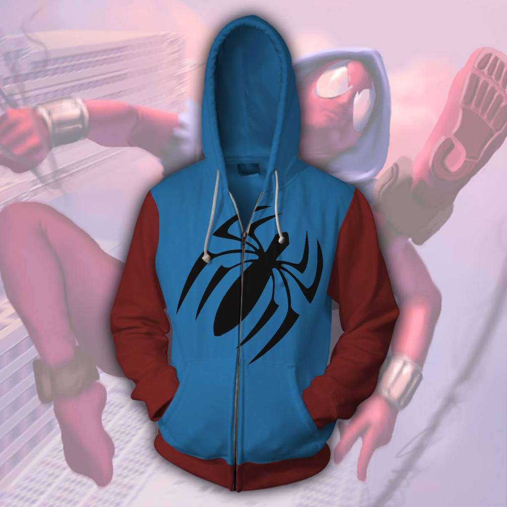 Cool Spider Man Zip Up Hoodie