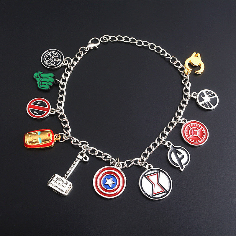 The Avengers logo collection bracelet
