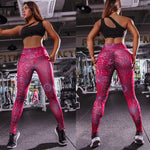 Spider Web High-Waist Hip-Lifting Yoga Sports Leggings