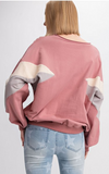 Multi Color Crew Neck Pullover