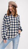 Plaid Terry Knit Pullover