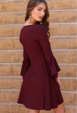 Angle Sleeve Knit Dress