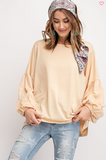 Bubble Sleeve Pull Over Top