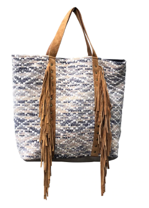 Leather Fringes Tote Bag