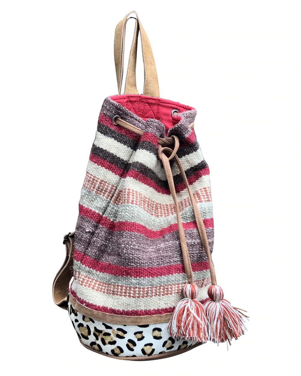 Autumn Stripes Bucket Tote/Backpack