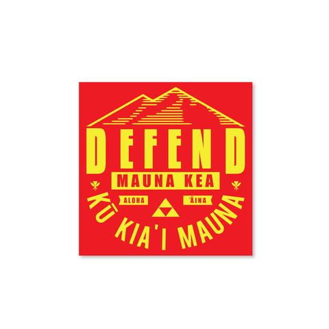 DH ! DEFEND MAUNA KEA STICKER