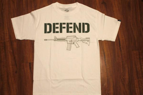 DEFEND ! STENCIL  WHITE/M.GRN