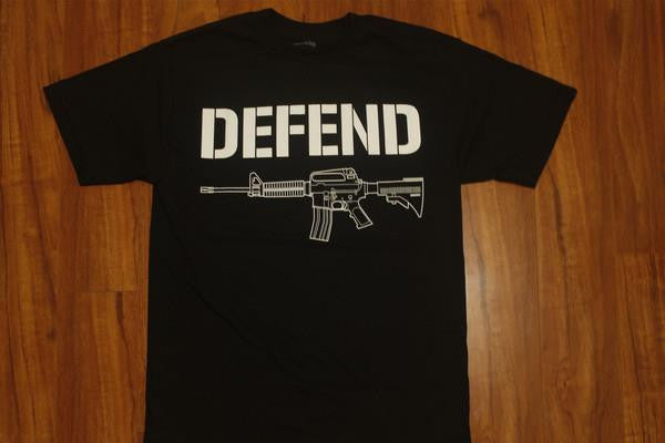 DEFEND ! STENCIL  BLACK/WHT