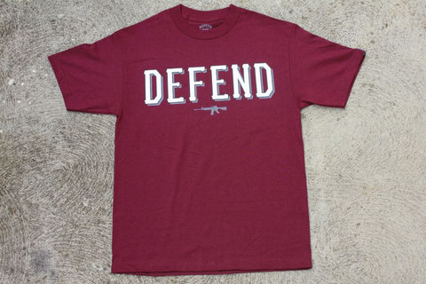 DEFEND ! BASIC  MAROON GRY/BLK/WHT