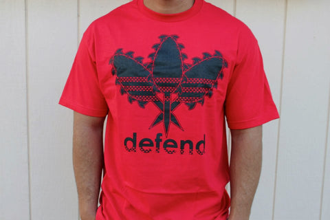 DEFEND ! ALL DAY  RED/BLK