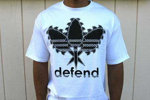 DEFEND ! ALL DAY  WHITE/BLK
