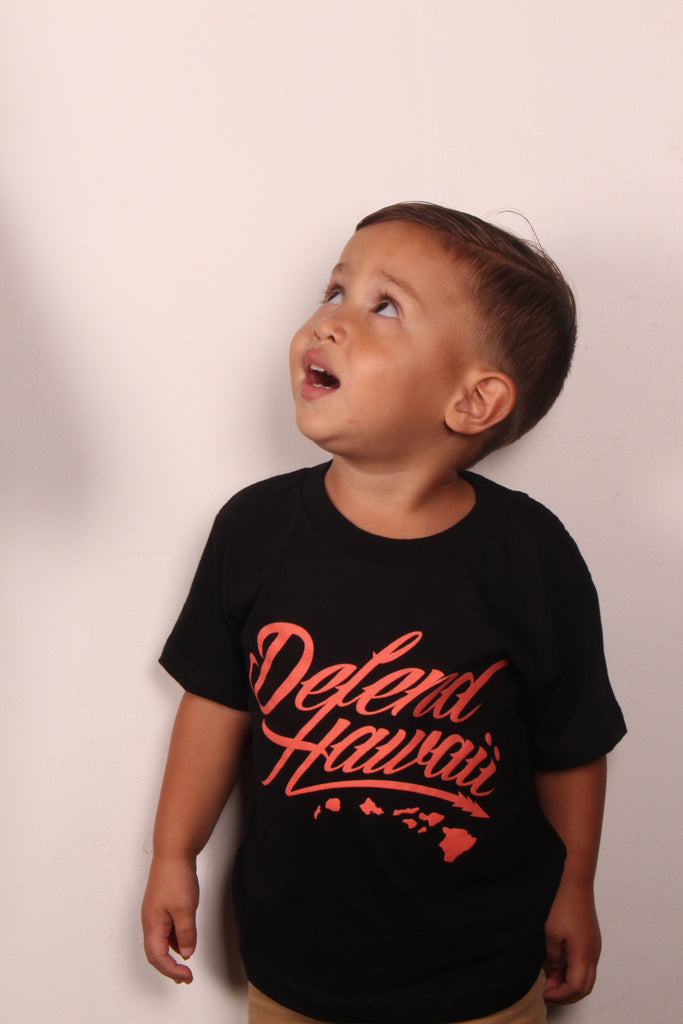 DH ! WILDSTYLE LOGO KIDS TEE  BLACK/SALMON