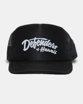 DH ! DEFENDERS SCRIPT YOUTH TRUCKER  BLK/WHT