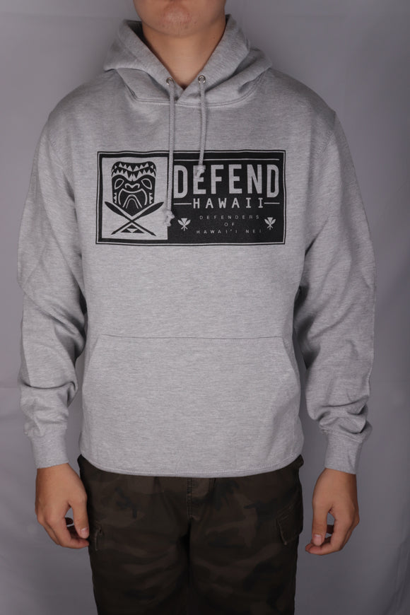 DH ! TIKI PATCH PULLOVER HOODY  HRY.HTHR/BLK