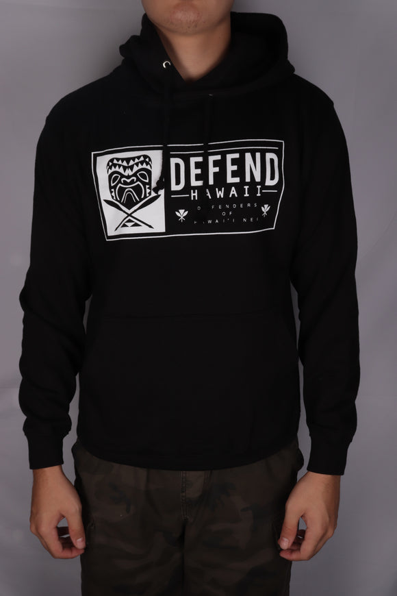 DH ! TIKI PATCH PULLOVER HOODY  BLK/WHT