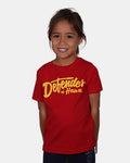 DEFENDERS SCRIPT Youth Red Short Sleeve Tee